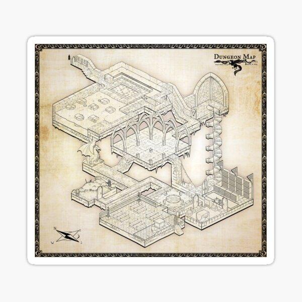Isometric Dungeon Map Sticker