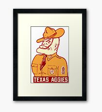 Texas A&M University Aggies Vintage Decal Framed Print