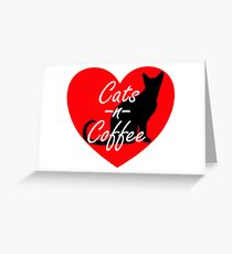Cats and Cofee Greeting Card