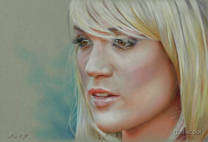 Carrie Underwood Colored Pencil by golfiscool