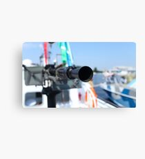 barrel heavy machine gun Canvas Print