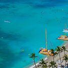 Waikiki Beach Honolulu Hawaii by Toni McPherson