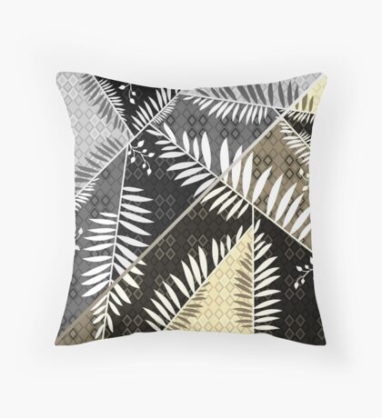 Connection of Leaves 2 Throw Pillow