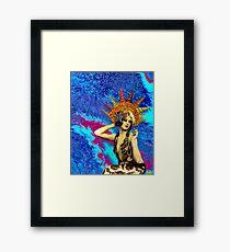 Gypsy Seashell Babe - Starfish & Lace Framed Print