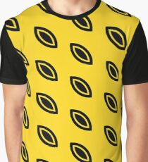 Yellow & Black Pattern Graphic T-Shirt