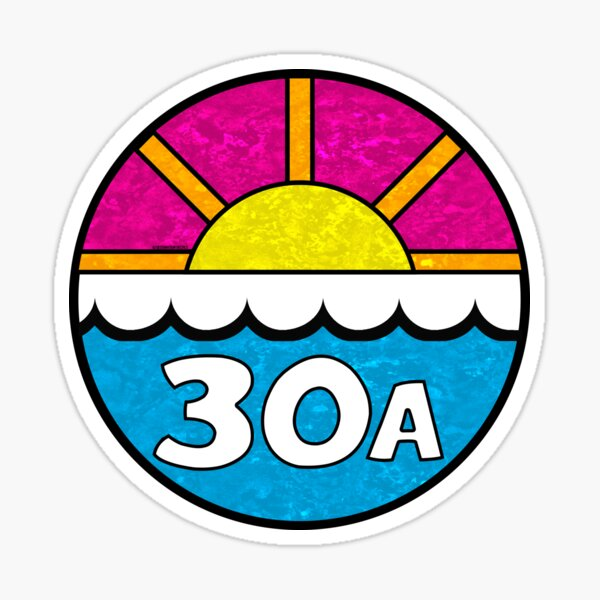 30A FLORIDA EMERALD COAST 30 A BEACH OCEAN VACATION Sticker
