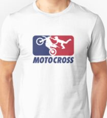MOTOCROSS BLUE AND RED  Unisex T-Shirt