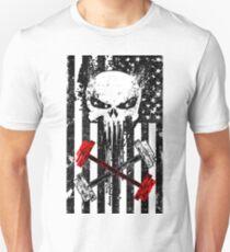 Skull Red Barbell T-Shirt