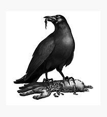 Crow under arm Photographic Print