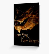I am fire, I am Death Greeting Card
