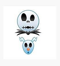 Jack Skellingtong and Zero Emoji Photographic Print