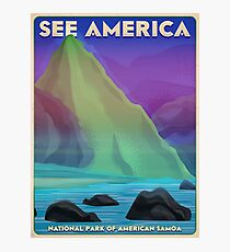 Travel Print Poster – See America (American Samoa National Park) Photographic Print