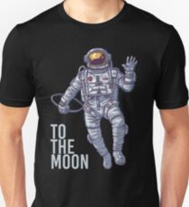 Litecoin Astronaut to the Moon -light text Unisex T-Shirt