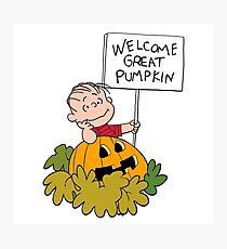 Linus and great Pumpkin Photographic Print