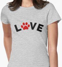 Dog Cat Paw Love Design T-Shirt