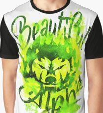 Beautiful Alpha Bad Boy/Girl Green Graphic T-Shirt
