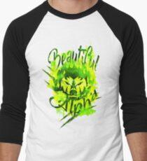 Beautiful Alpha Bad Boy/Girl Green Baseball ¾ Sleeve T-Shirt