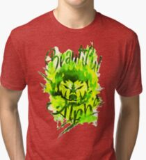 Beautiful Alpha Bad Boy/Girl Green Tri-blend T-Shirt