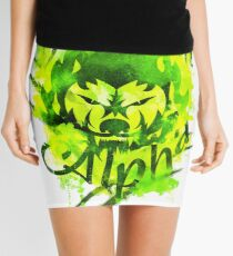 Beautiful Alpha Bad Boy/Girl Green Mini Skirt