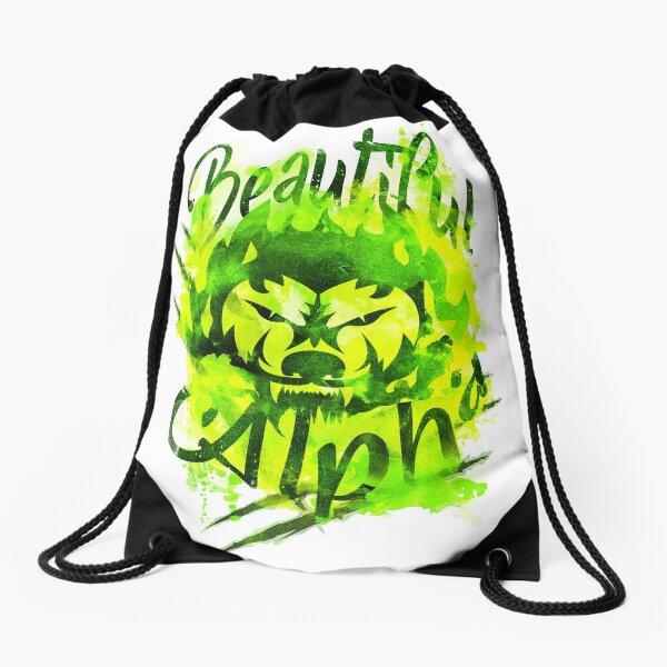 Beautiful Alpha Bad Boy/Girl Green Drawstring Bag