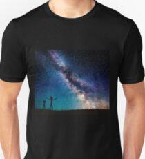 Rick and Morty Galaxy Blue T-Shirt