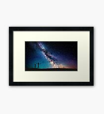 Rick and Morty Galaxy Blue Framed Print