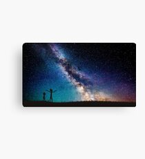 Rick and Morty Galaxy Blue Canvas Print