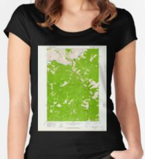 USGS TOPO Map Idaho ID Sliderock Ridge 238181 1963 24000 Women's Fitted Scoop T-Shirt