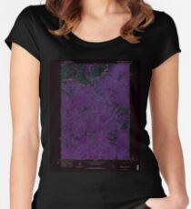 USGS TOPO Map Idaho ID Sliderock Ridge 238182 1963 24000 Inverted Women's Fitted Scoop T-Shirt