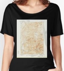 USGS TOPO Map Idaho ID Garden Valley 239504 1909 125000 Women's Relaxed Fit T-Shirt