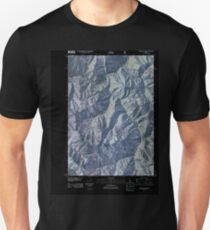 USGS TOPO Map Idaho ID Sliderock Ridge 20110114 TM Inverted T-Shirt