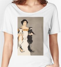 Lady carrying two cats 021 Women's Relaxed Fit T-Shirt