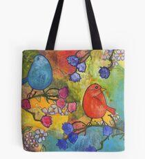 2 Birds Tote Bag