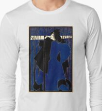 Lady in blue with black coat 030 T-Shirt