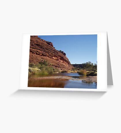 Finke River Greeting Card