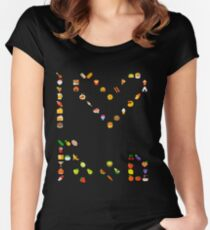 I love Food Women's Fitted Scoop T-Shirt