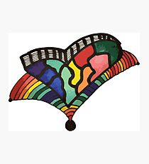 Rainbow Trumpet Heart Photographic Print