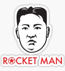 """""""Rocket Man"""" Kim Jong-un Sticker"""