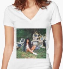 SZA Poster Women's Fitted V-Neck T-Shirt