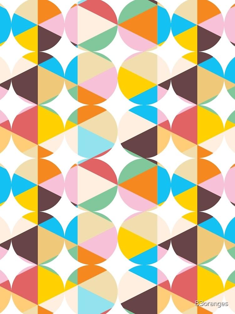 Retro Geometry #redbubble #decor #buyart by 83oranges