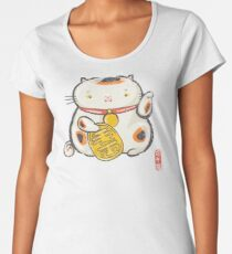 ManekiNeko [Special Lucky Toy Box] Women's Premium T-Shirt