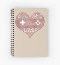Indie Game Lover Heart Spiral Notebook