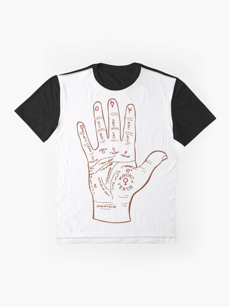 Alternate view of Palmistry // Palm Reading // Palm Reader Graphic T-Shirt