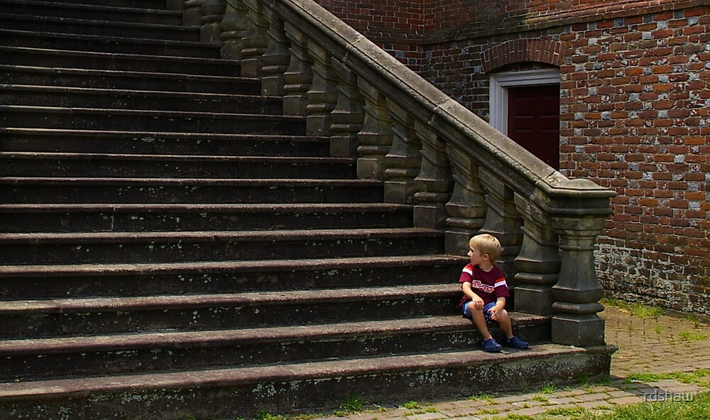 Child on Steps by rdshaw