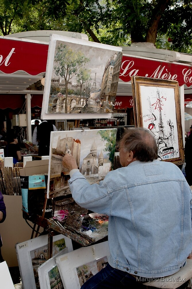 Painting in Montmatre by Marylou Badeaux