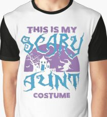 AUNT HALLOWEEN TSHIRT THIS IS MY SCARE AUNT COSTUME TSHIRT - halloween tshirt Graphic T-Shirt