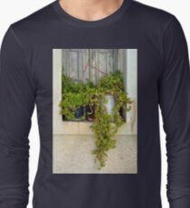 Plants at an old building facade window  T-Shirt
