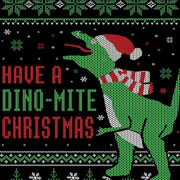 Ugly Christmas Dinosaur design by EstelleStar