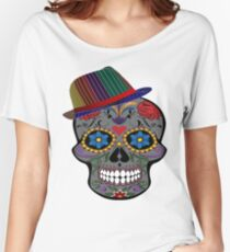 Funny Halloween Skull T-Shirt And More Day Of The Dead Products Women's Relaxed Fit T-Shirt