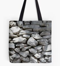 Texture of white stone wall  Tote Bag